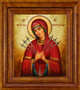 От чего помогает Семистрельная икона Божией Матери