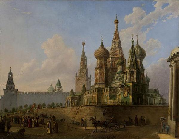 Собор Василия Блаженного в 1852 году