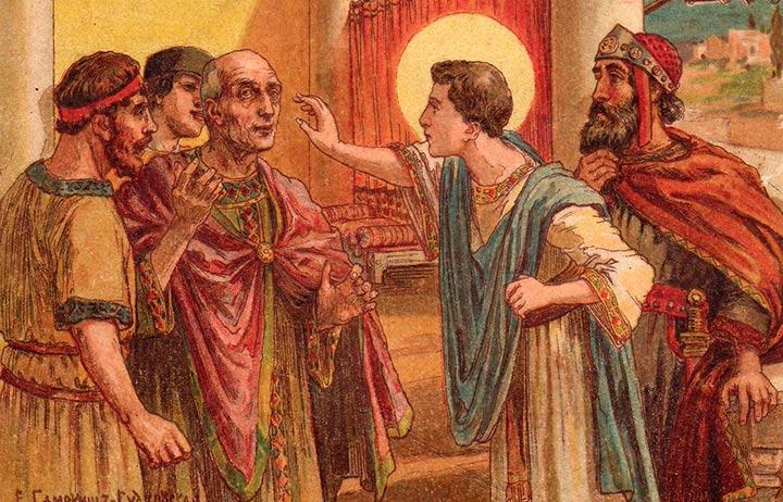 Святой Пантелеймон на рисунке